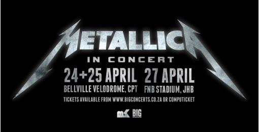 Metallica – Cape Town show venue change