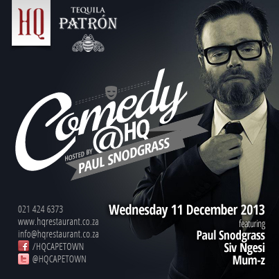 Comedy Night at HQ – Cape Town