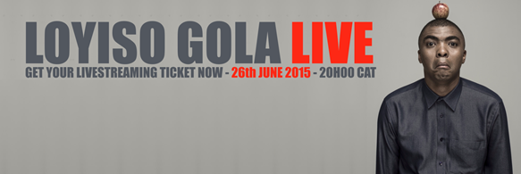 TWO-TIME EMMY AWARD NOMINEE LOYISO GOLA TO LIVE STREAM SOLD OUT 'LOYISO GOLA LIVE' PERFORMANCE