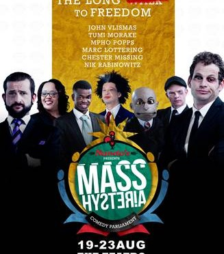 "SA'S FUNNIEST MINISTERS…UMM…COMICS HIT JOBURG FOR NANDO'S PRESENTS MASS HYSTERIA ""The Long Bunfight to Freedom"""
