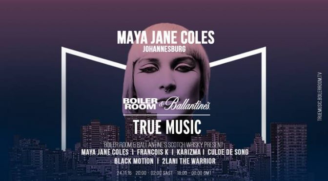 BALLANTINE'S & BOILER ROOM JOIN FORCES WITH MAYA JANE COLES